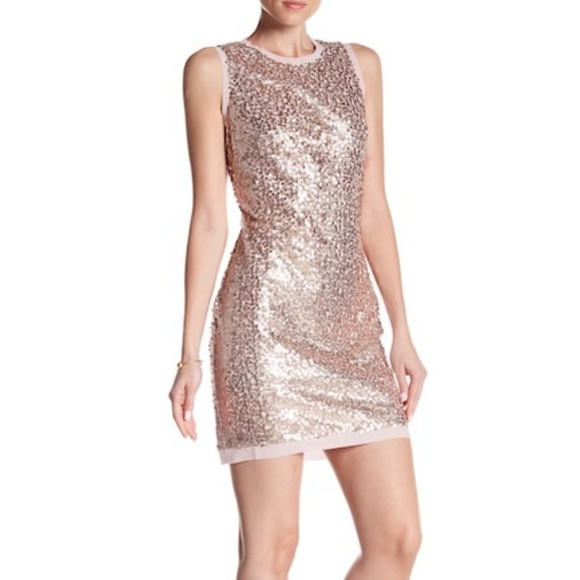 62ac04891f0 NWT Vince Camuto Sequin Flare Sleeveless Dress